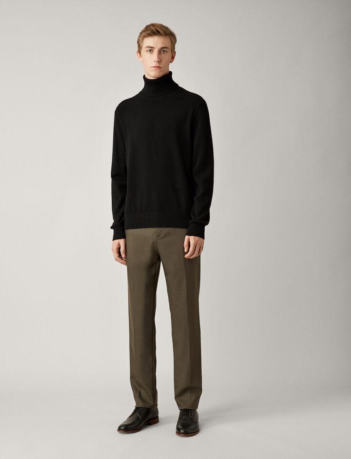 Joseph, High Neck Mongolian Cashmere Knit, in BLACK