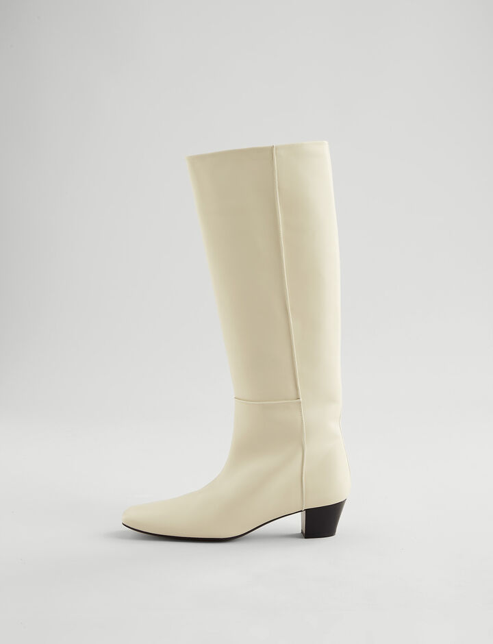 Joseph, Cynthia Camelia Long Boot, in WHITE