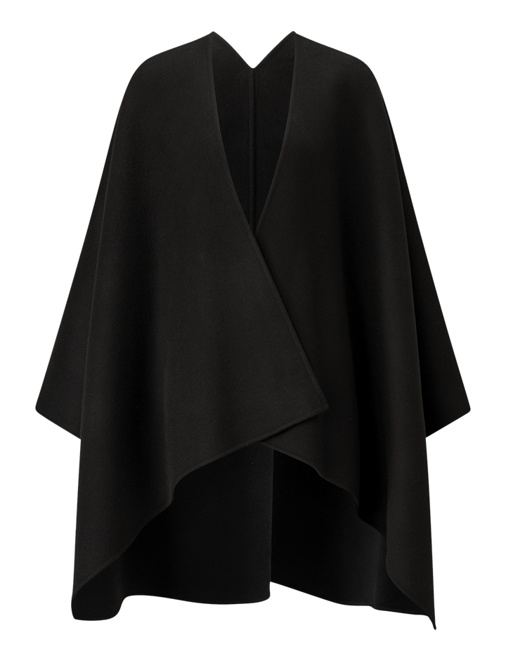 Joseph, Quadro Double Face Cashmere Coat, in BLACK