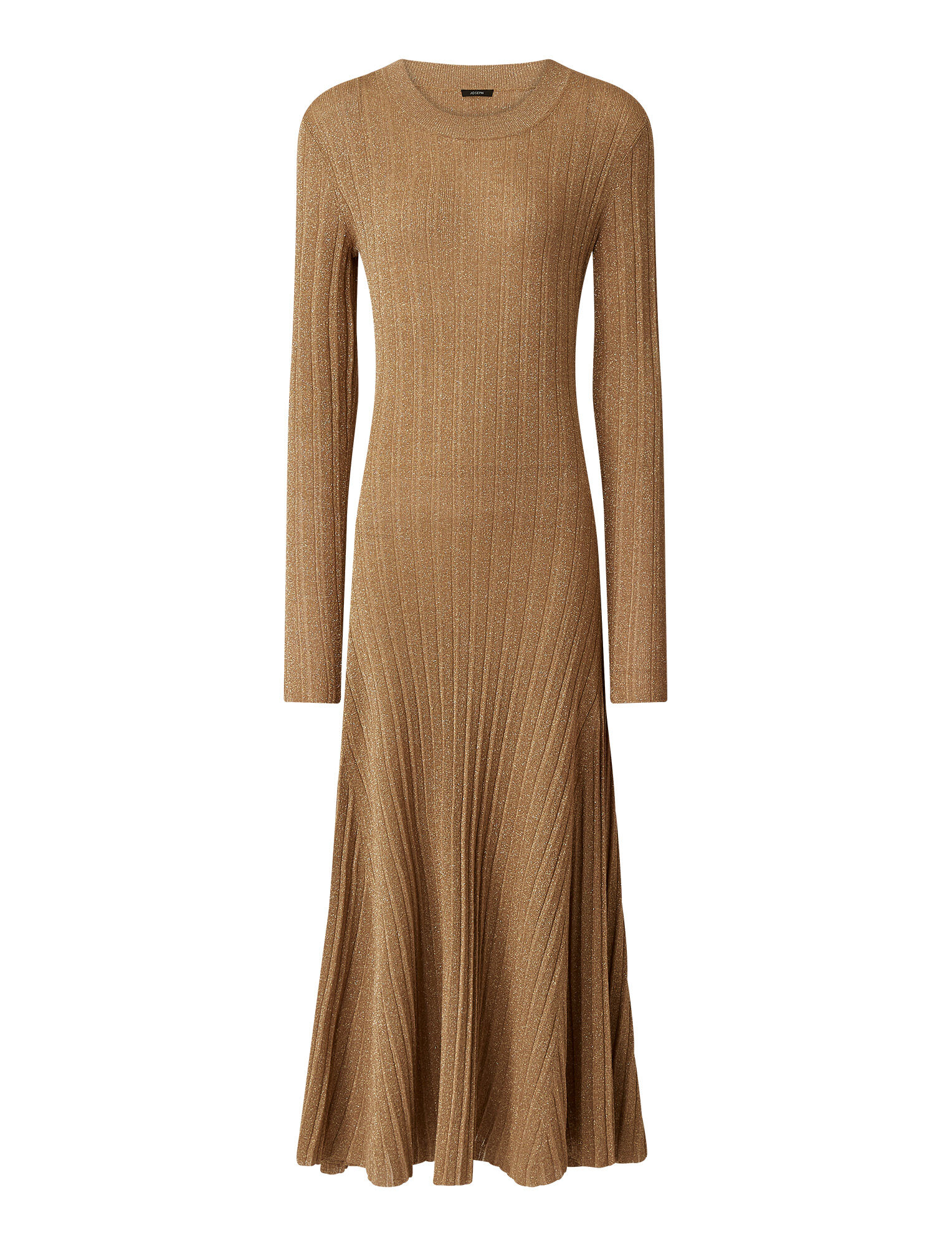 Joseph, Lurex Diva Dress, in CHAMPAGNE