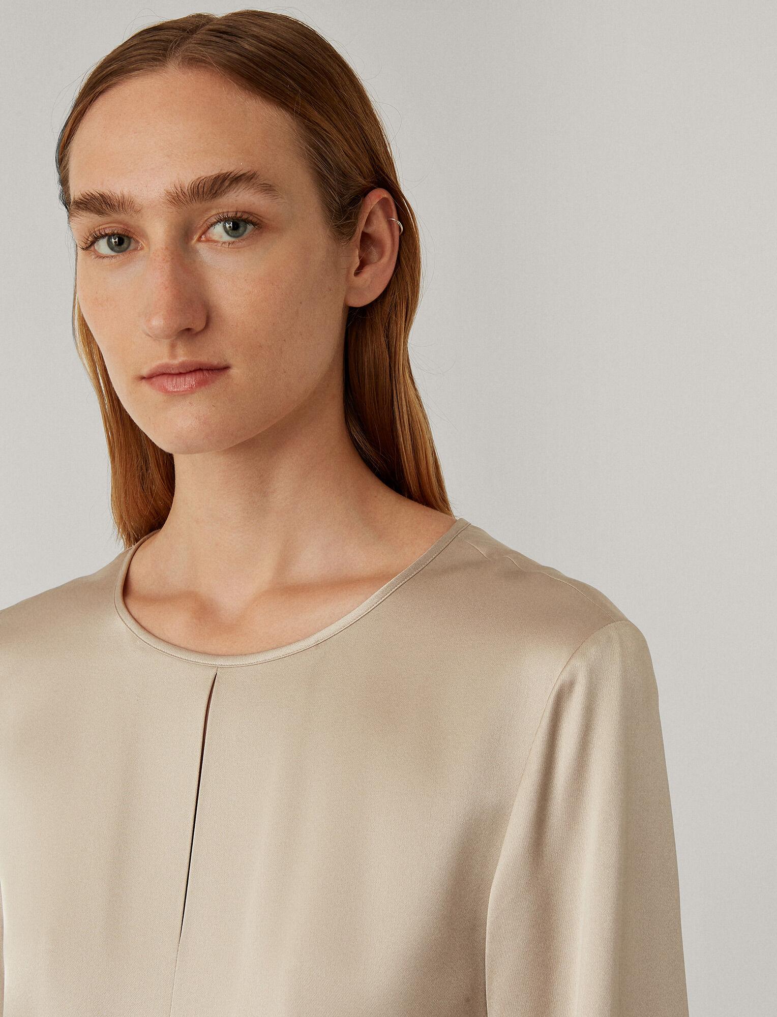 Joseph, Victoria Satin Double Face Dress, in PEARL