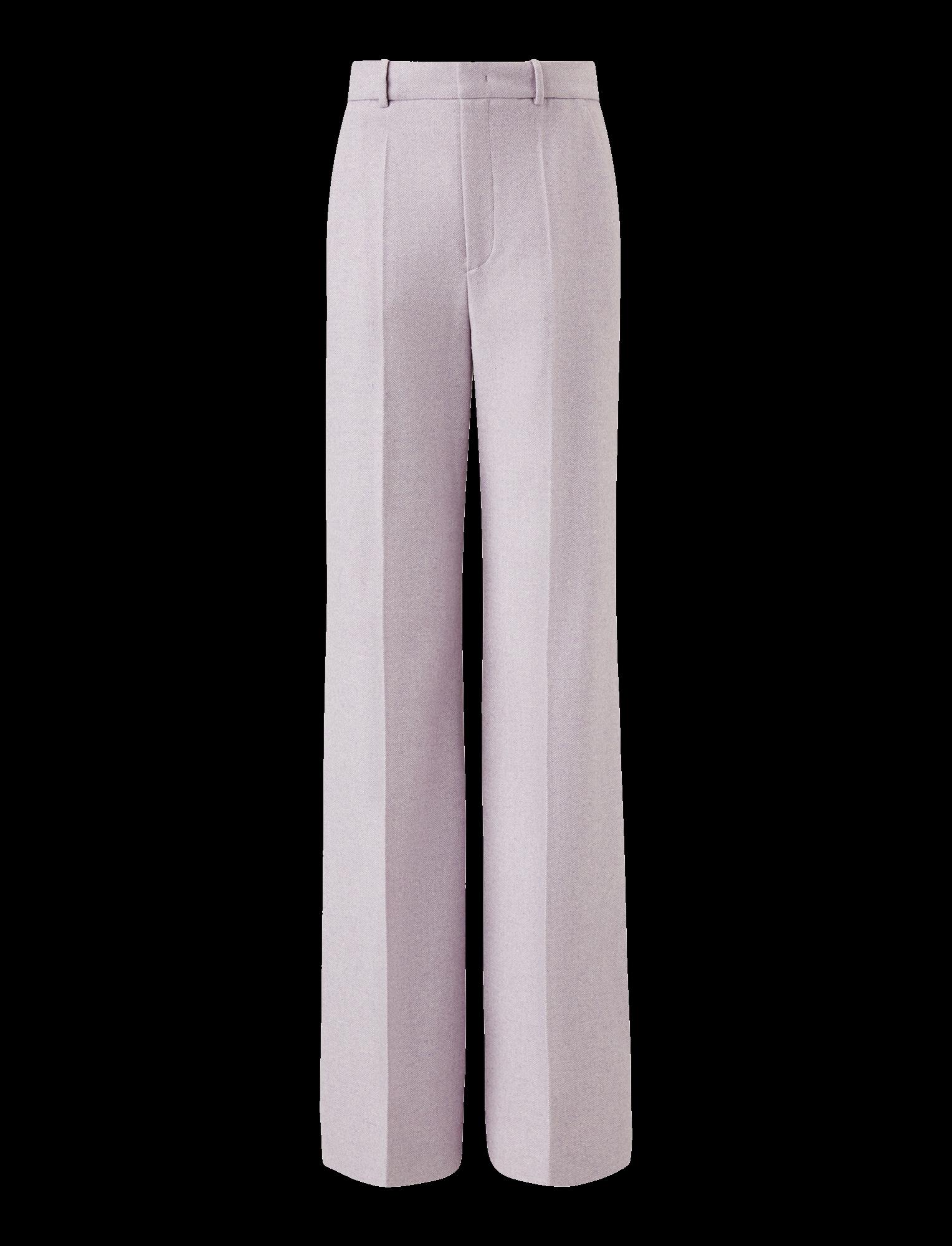 Joseph, Jess Herringbone Trousers, in LAVENDER