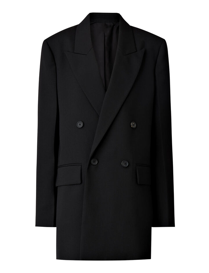 Joseph, Morgan Wool Granite Jacket, in BLACK