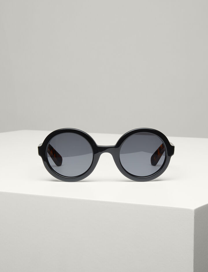 Joseph, Brook Sunglasses, in BLACK/TORTOISE
