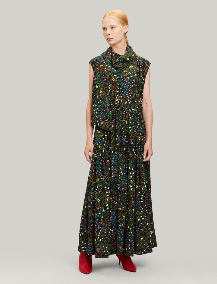 Joseph, Ines Trellis Floral Dress, in MULTICOLOUR