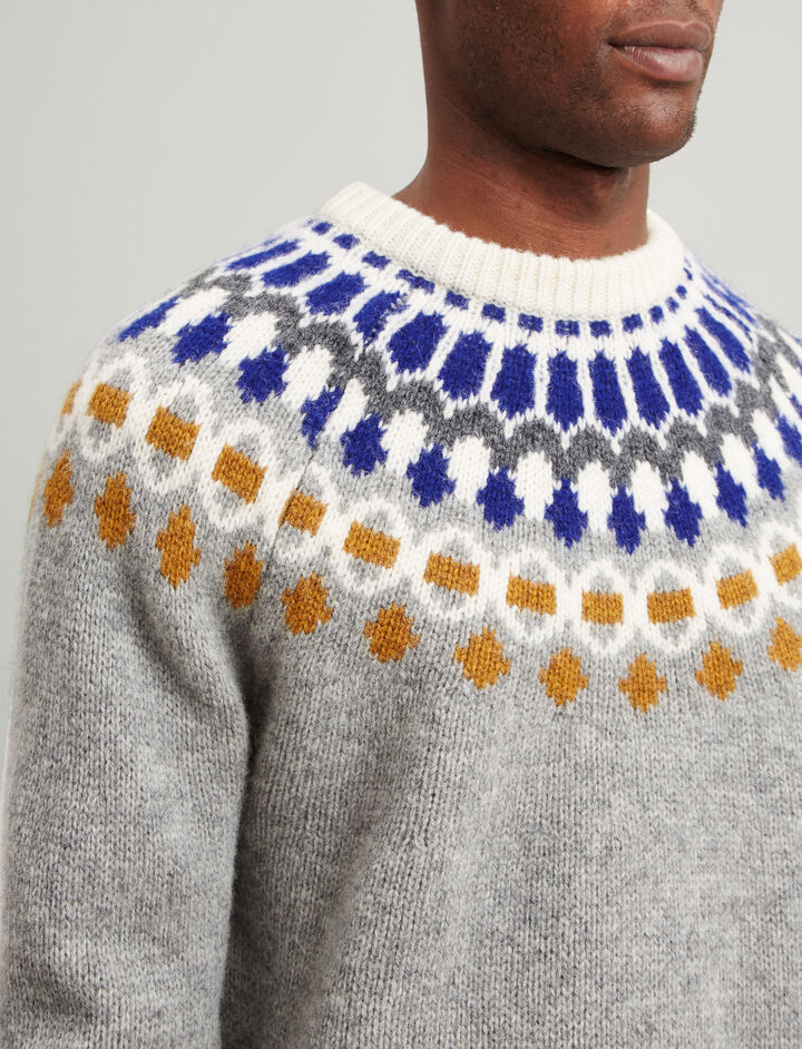 Joseph, Fair Isle Knit, in MULTICOLOUR