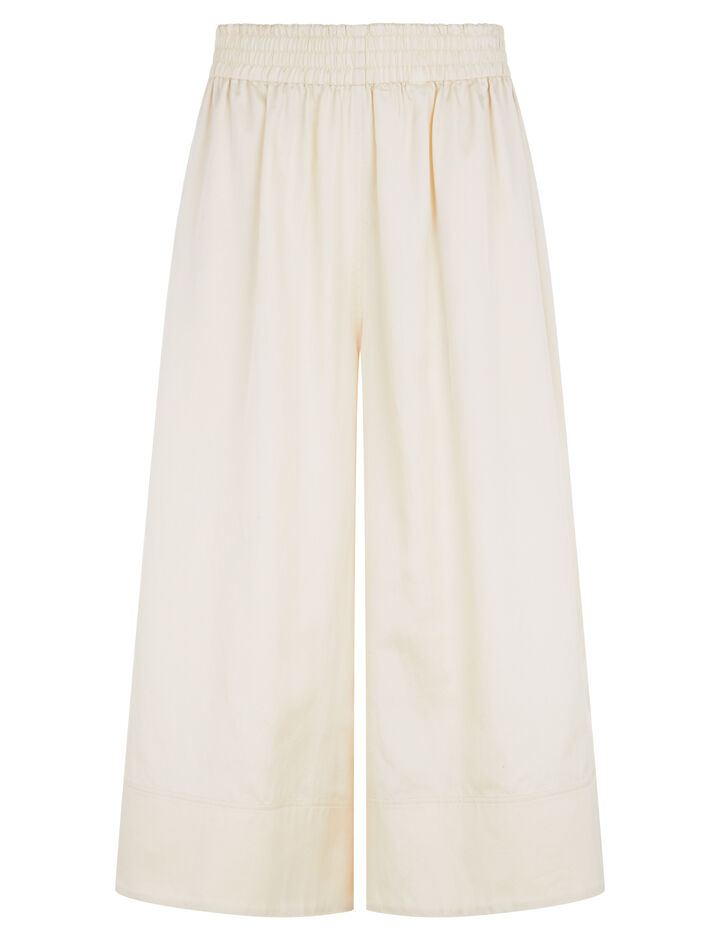 Joseph, Barlon Cotton Silk Shirting Trousers, in BUTTER