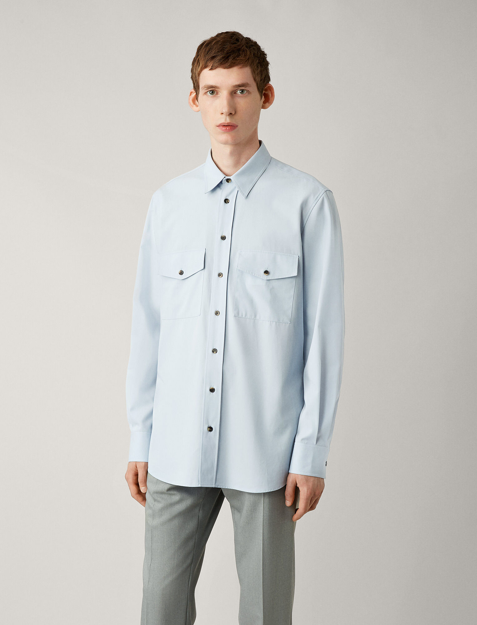 Joseph, Joseph Cotton Twill Shirt, in SKY BLUE
