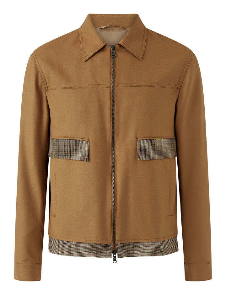 Joseph, Covert Cloth Combi Jacket Jackets, in Bronze