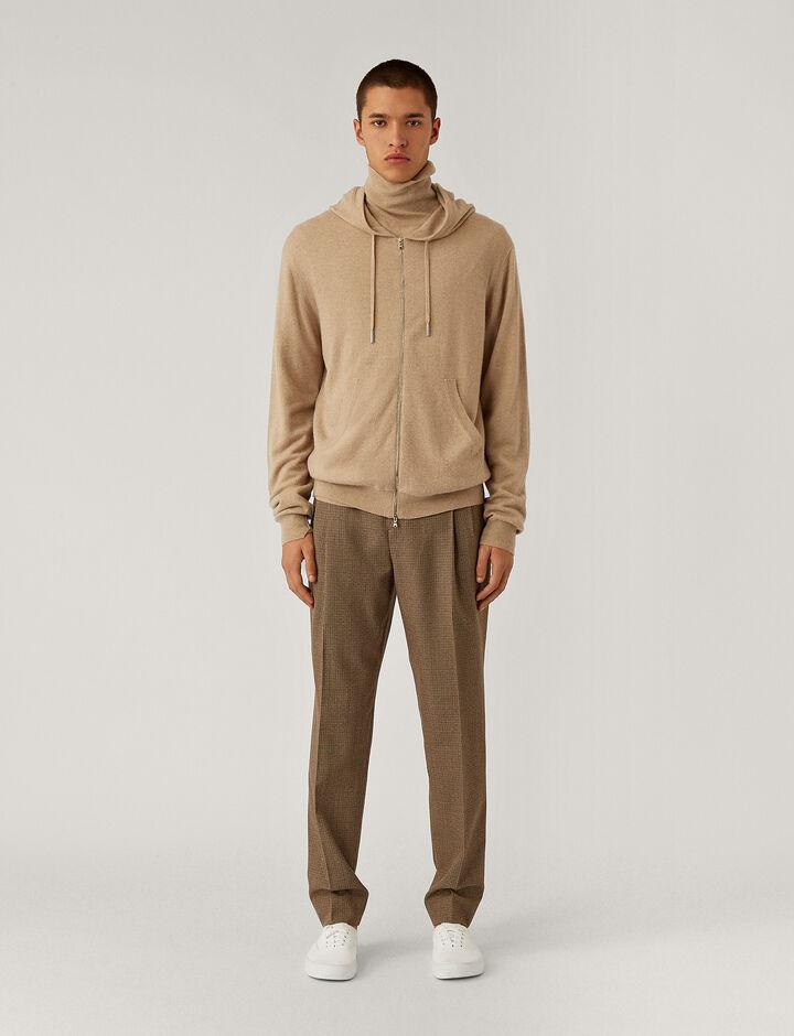 Joseph, Hoodie Cashmere Knit Knitwear, in Beige