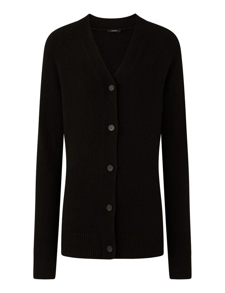 Joseph, Cardigan Pure Cashmere Knitwear, in Black