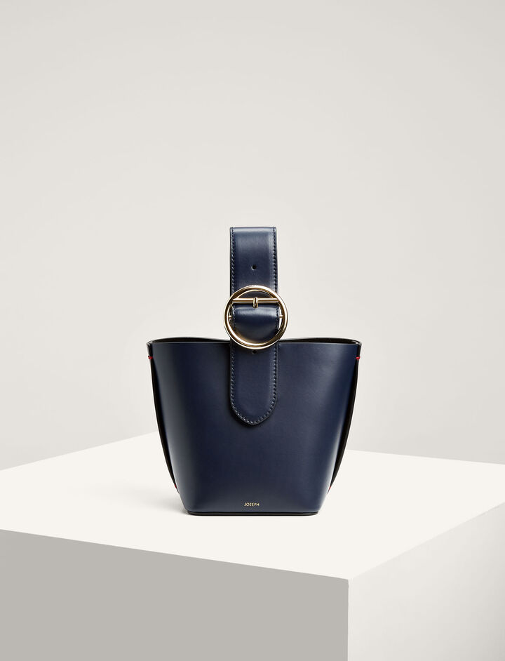 Joseph, Leather Sevres 25 Bag, in NAVY COMBO