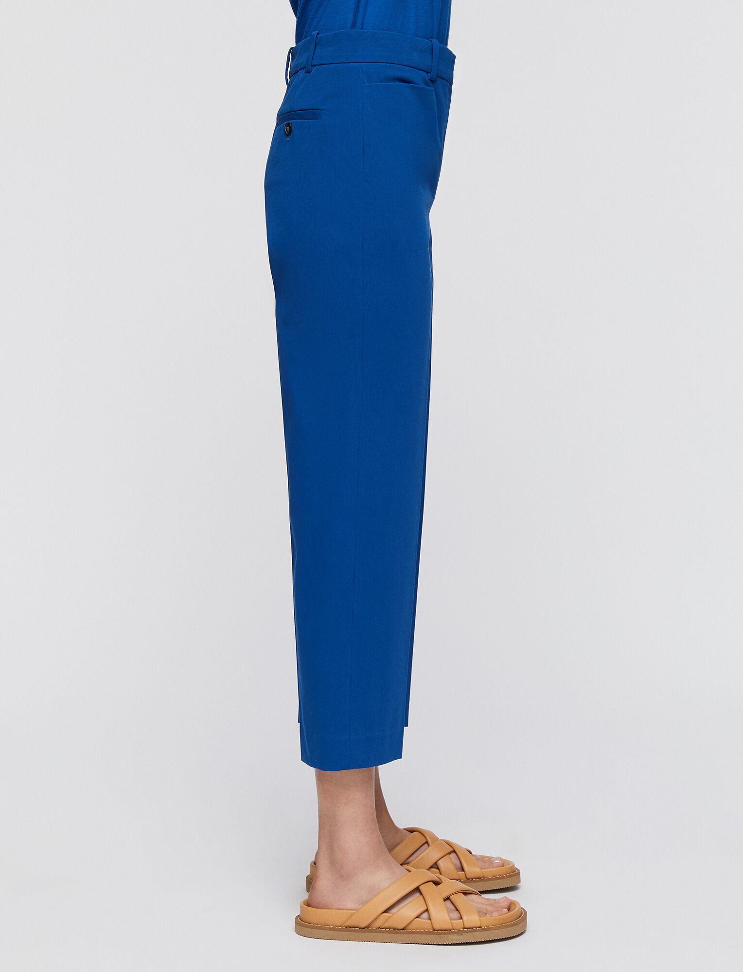 Joseph, Cotton Stretch Sloe Trousers, in MAJORELLE