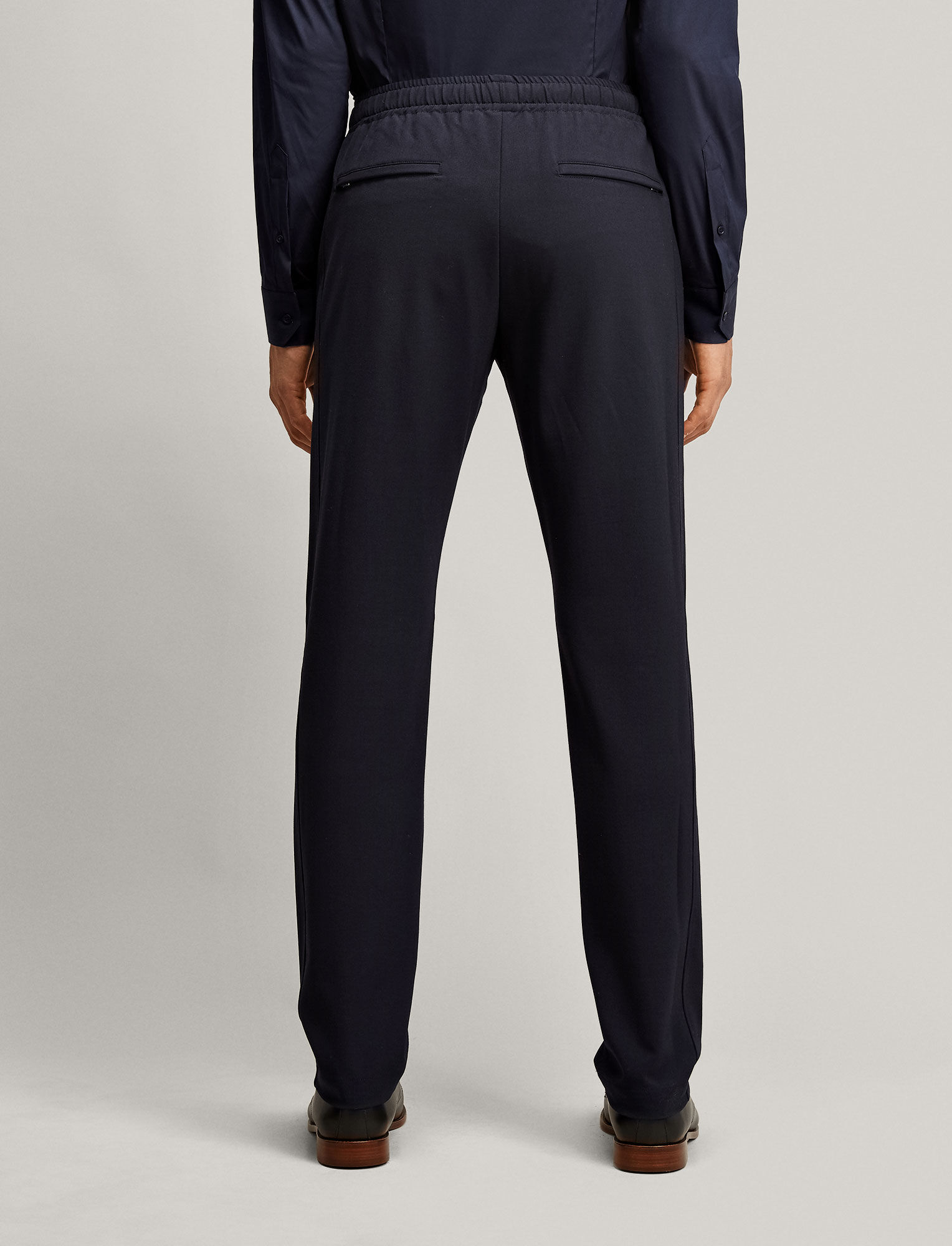 Joseph, Ettrick Techno Wool Stretch Trousers, in NAVY