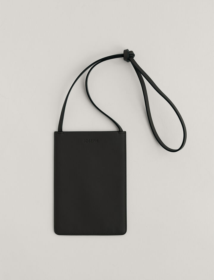 Joseph, Pocket bag-Leather, in BLACK