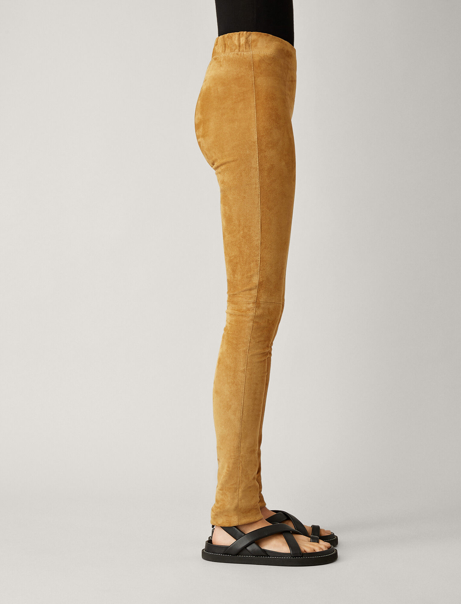 Joseph, Suede Stretch Leggings, in TAN