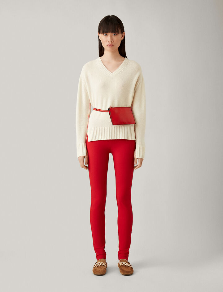 Joseph, Gabardine Stretch Legging, in TOMATO