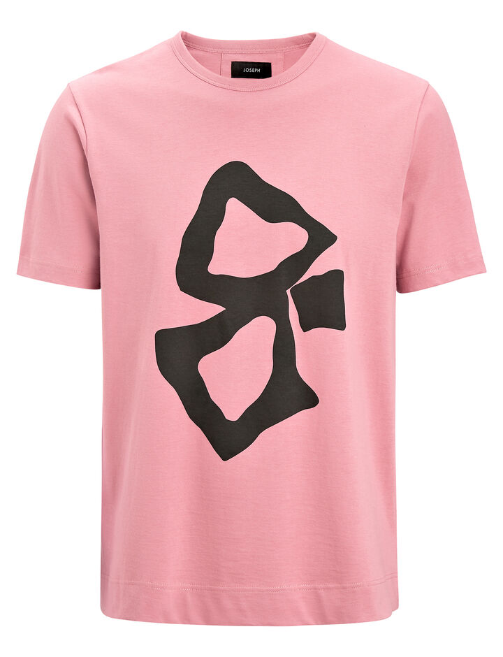 Joseph, Printed Jersey Tee, in PINK