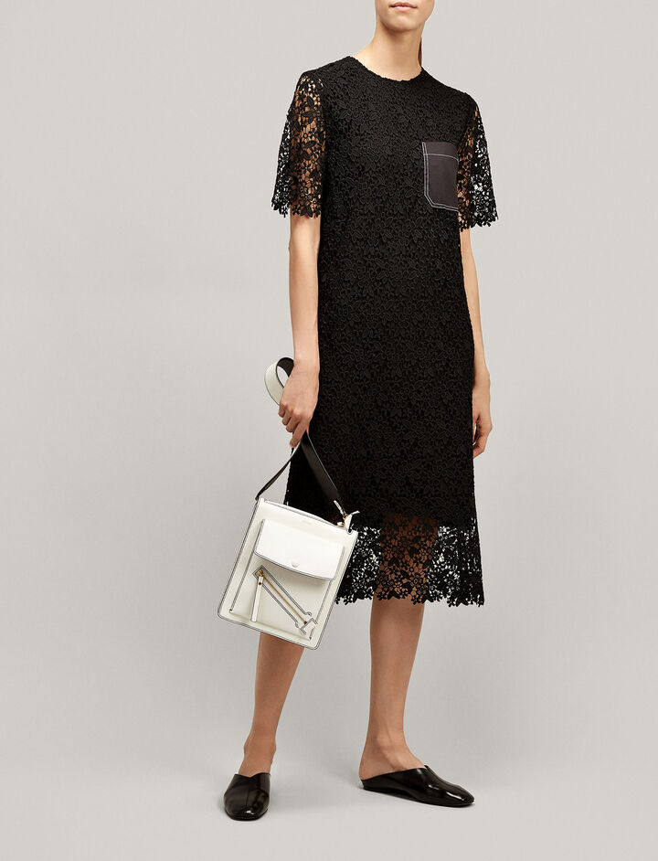 Joseph, Ellis Crochet Lace Dress, in BLACK