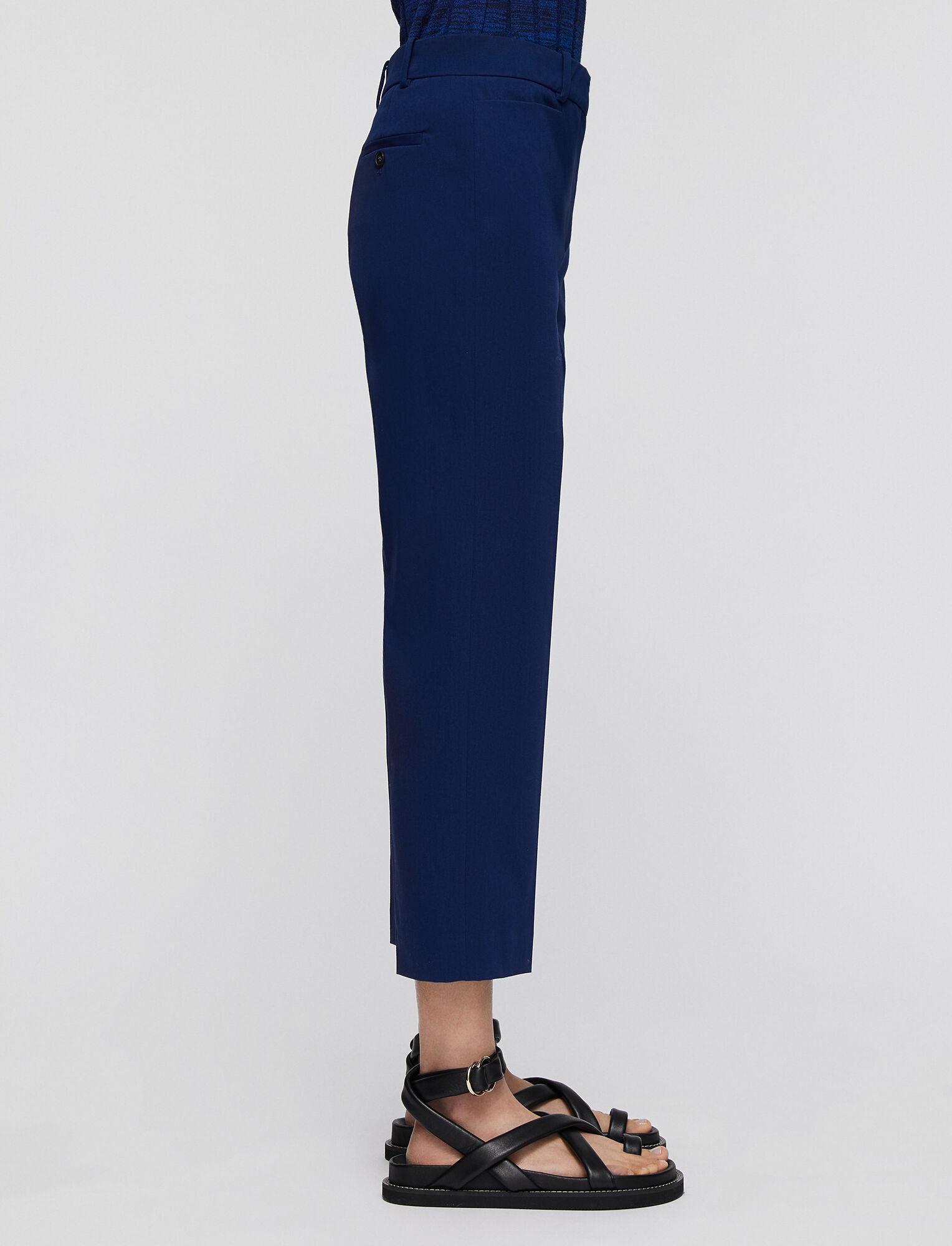 Joseph, Pantalon Sloe en coton stretch, in COBALT BLUE