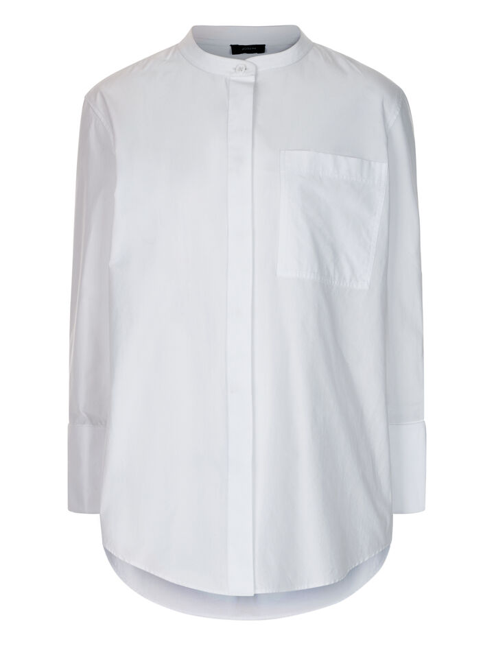 Joseph, Callen Poplin Blouse, in WHITE