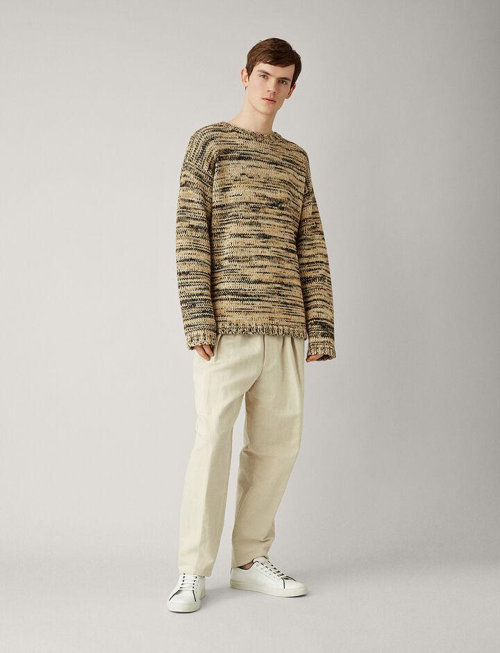 Joseph, Oversize Chunky Mouline Knit, in CAMEL COMBO