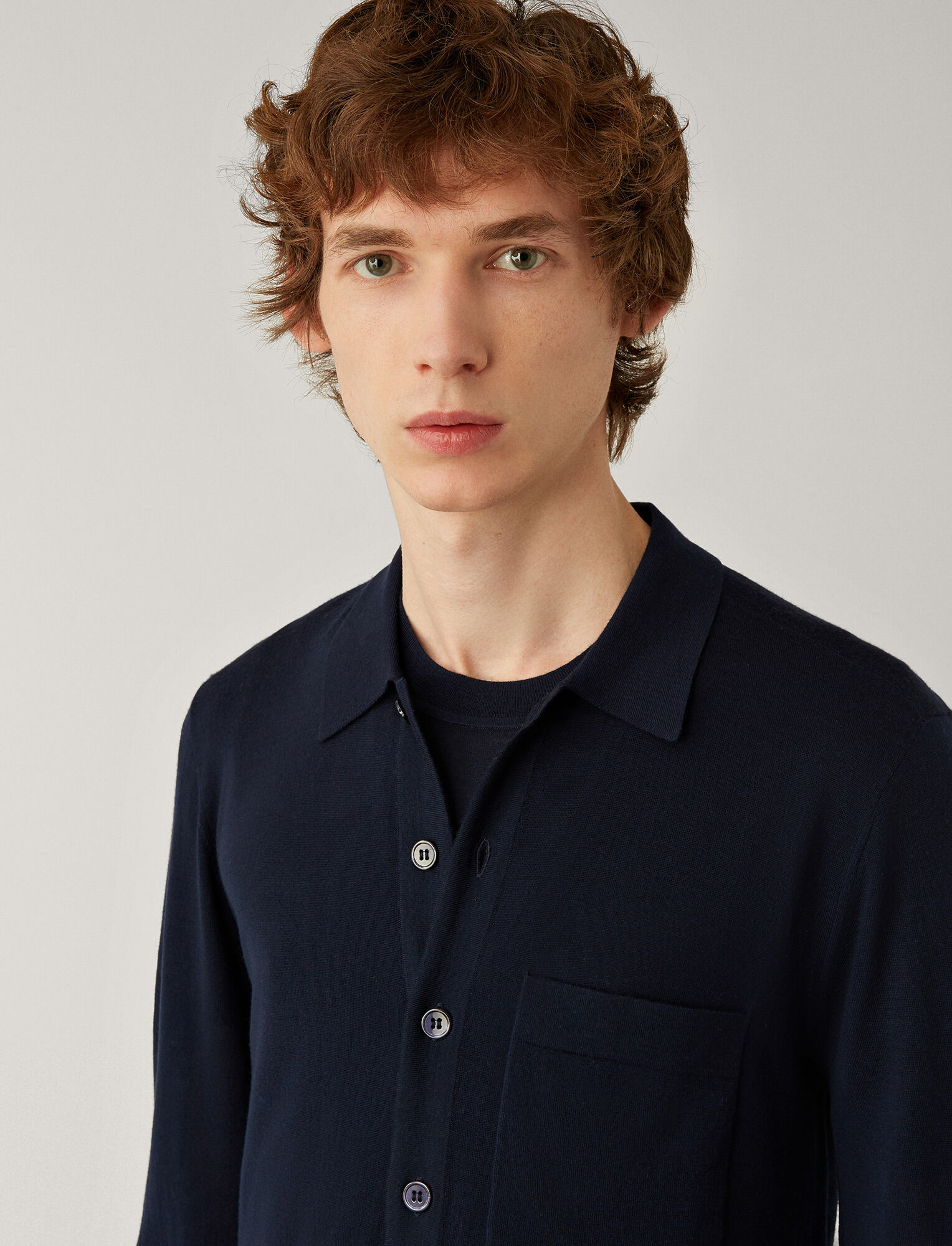 Joseph, Shirt Light Merinos Knit, in NAVY