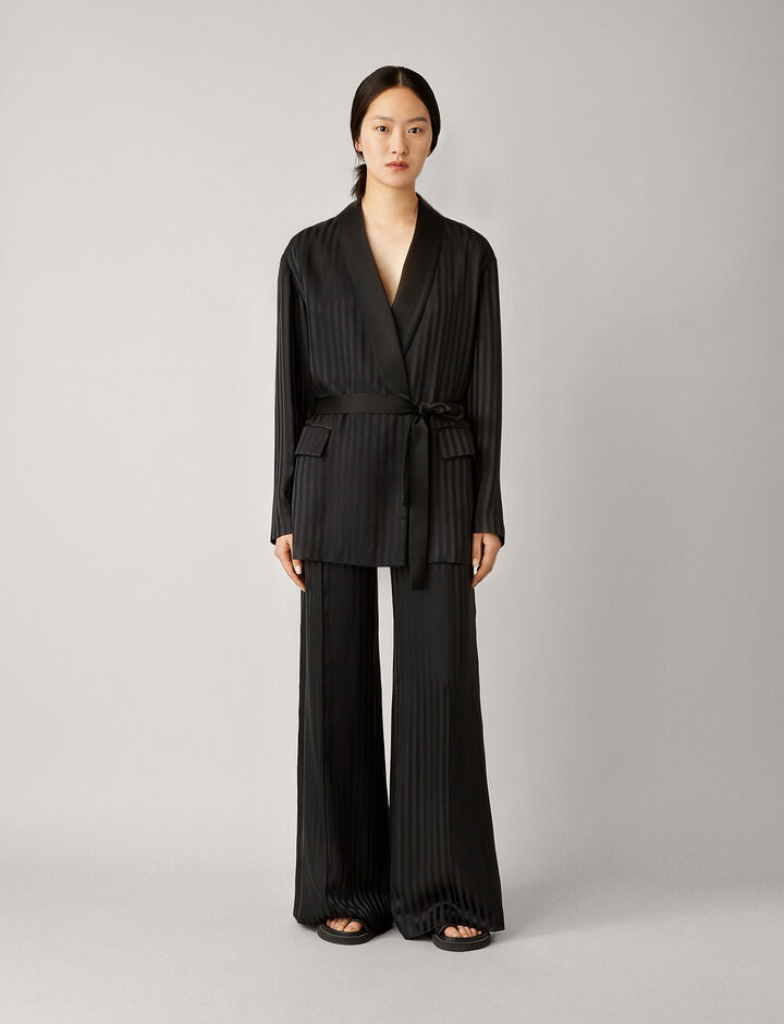 Joseph, Nash-Pyjama Silk Jacquard, in BLACK