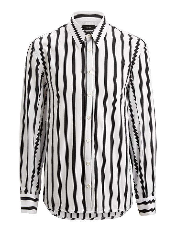 Joseph, Jean Marc Graphic Stripes 3 Shirt, in WHITE