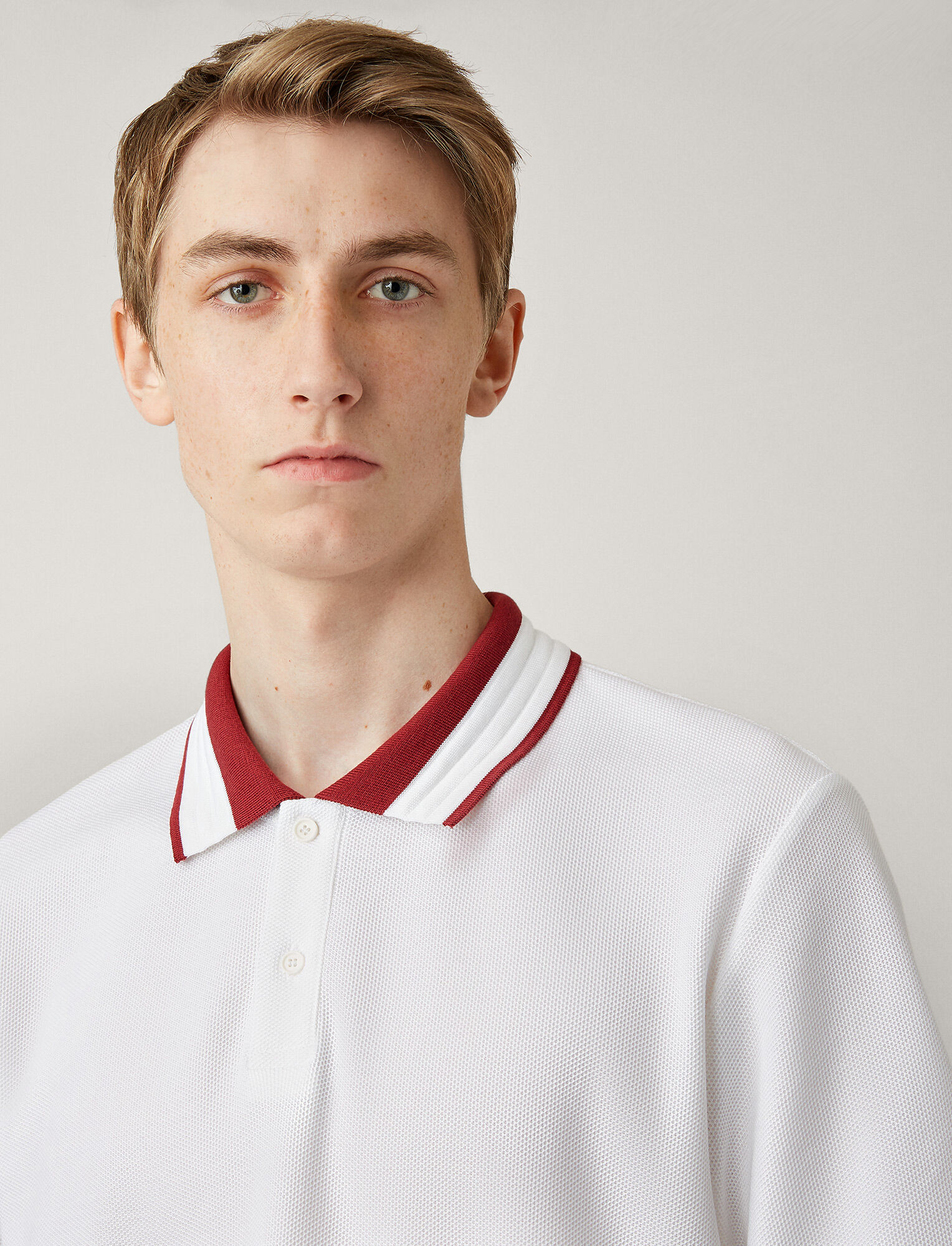 Joseph, Polo Piqué Jersey tee, in WHITE