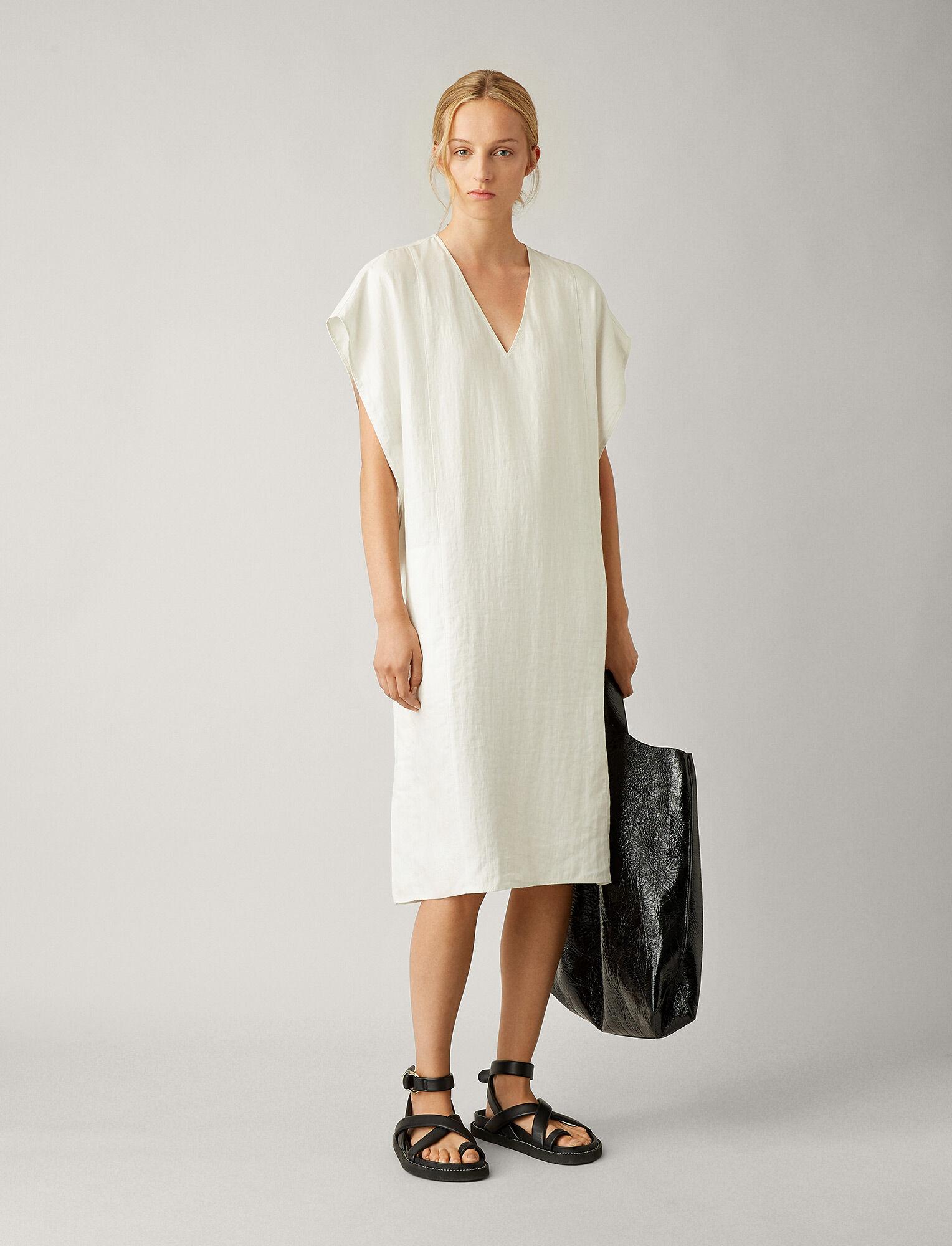 Joseph, Carr Chintz Linen Dress, in PEARL