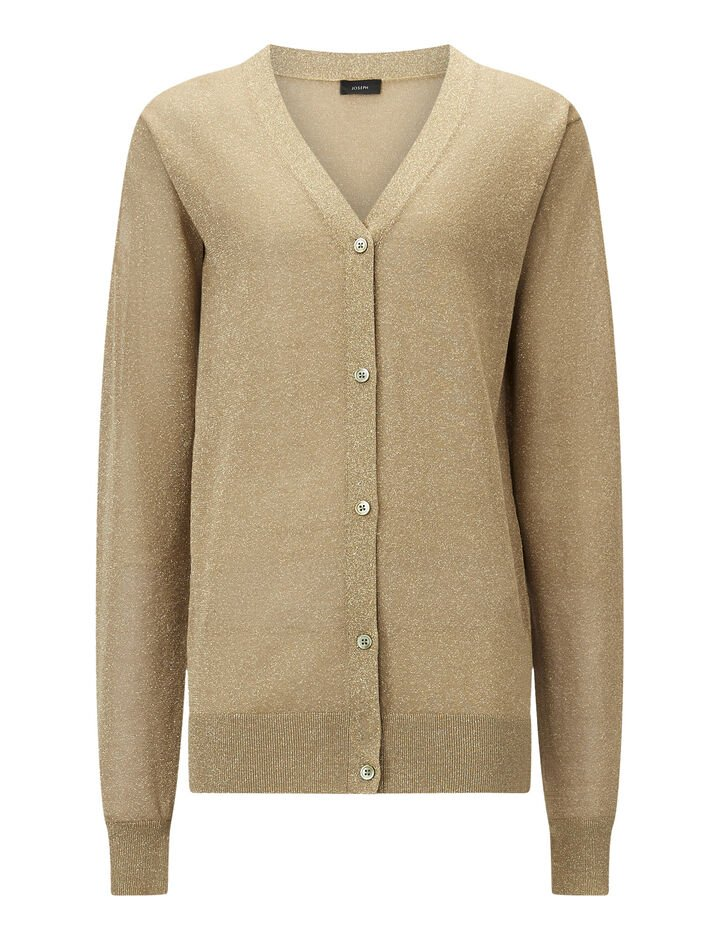 Joseph, Cardigan-Lurex, in TAN