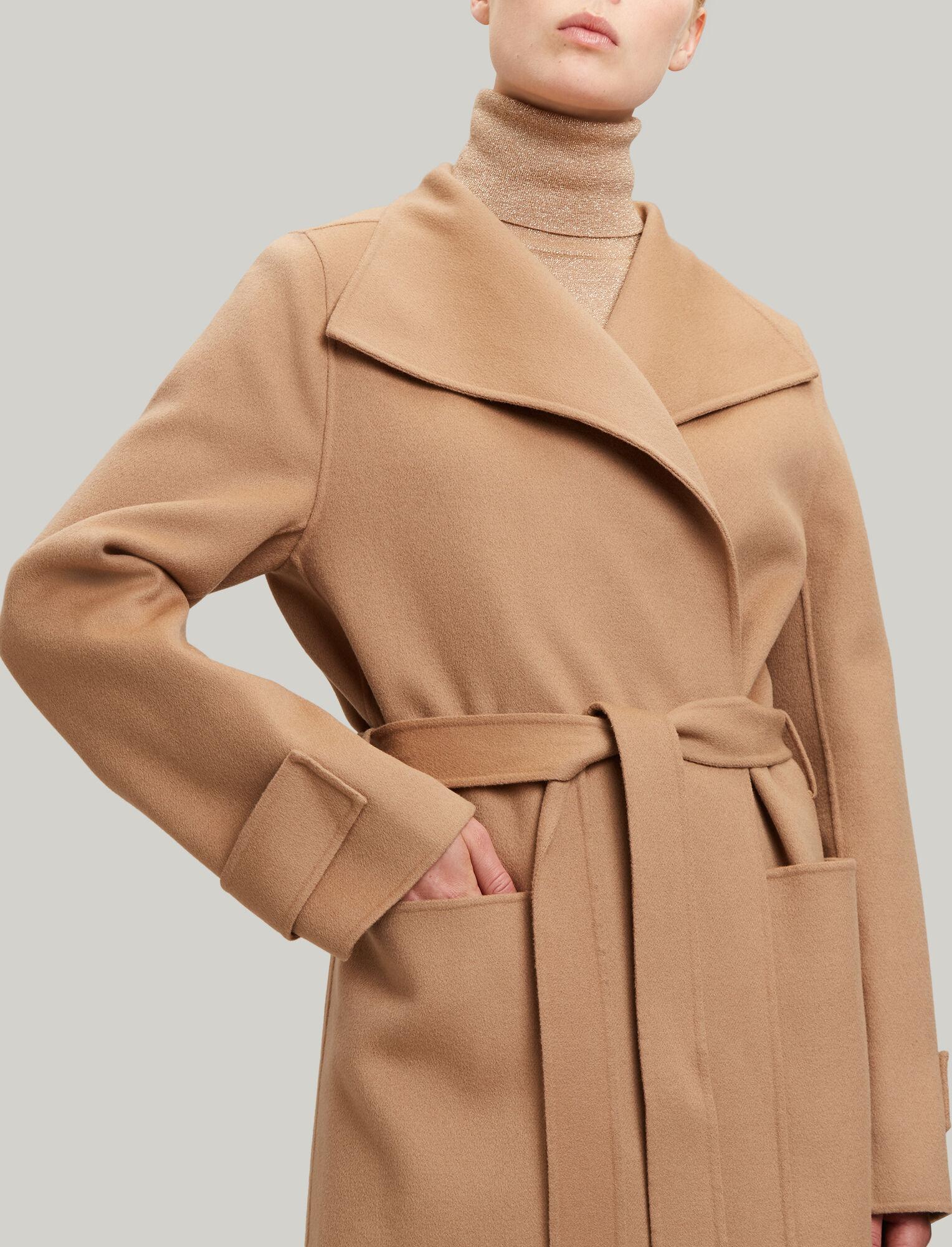 a9732fdd28c ... Joseph, Lista Short Double Wool Gloss Coat, in CAMEL