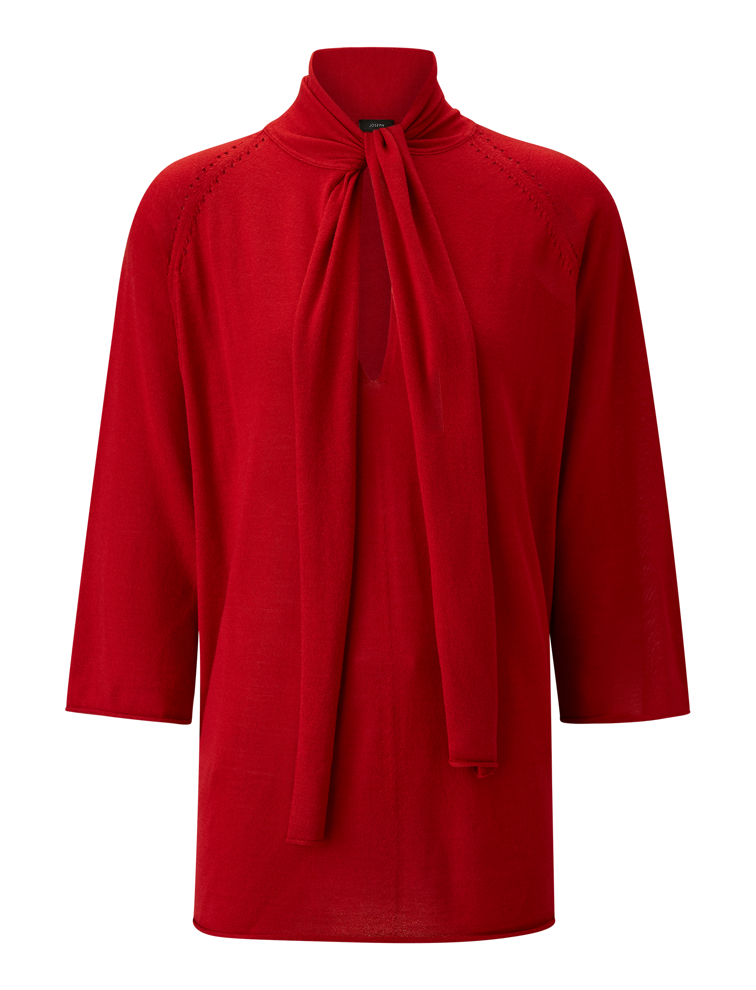 Joseph, Silk Merinos Knit Kaftan, in RUBY