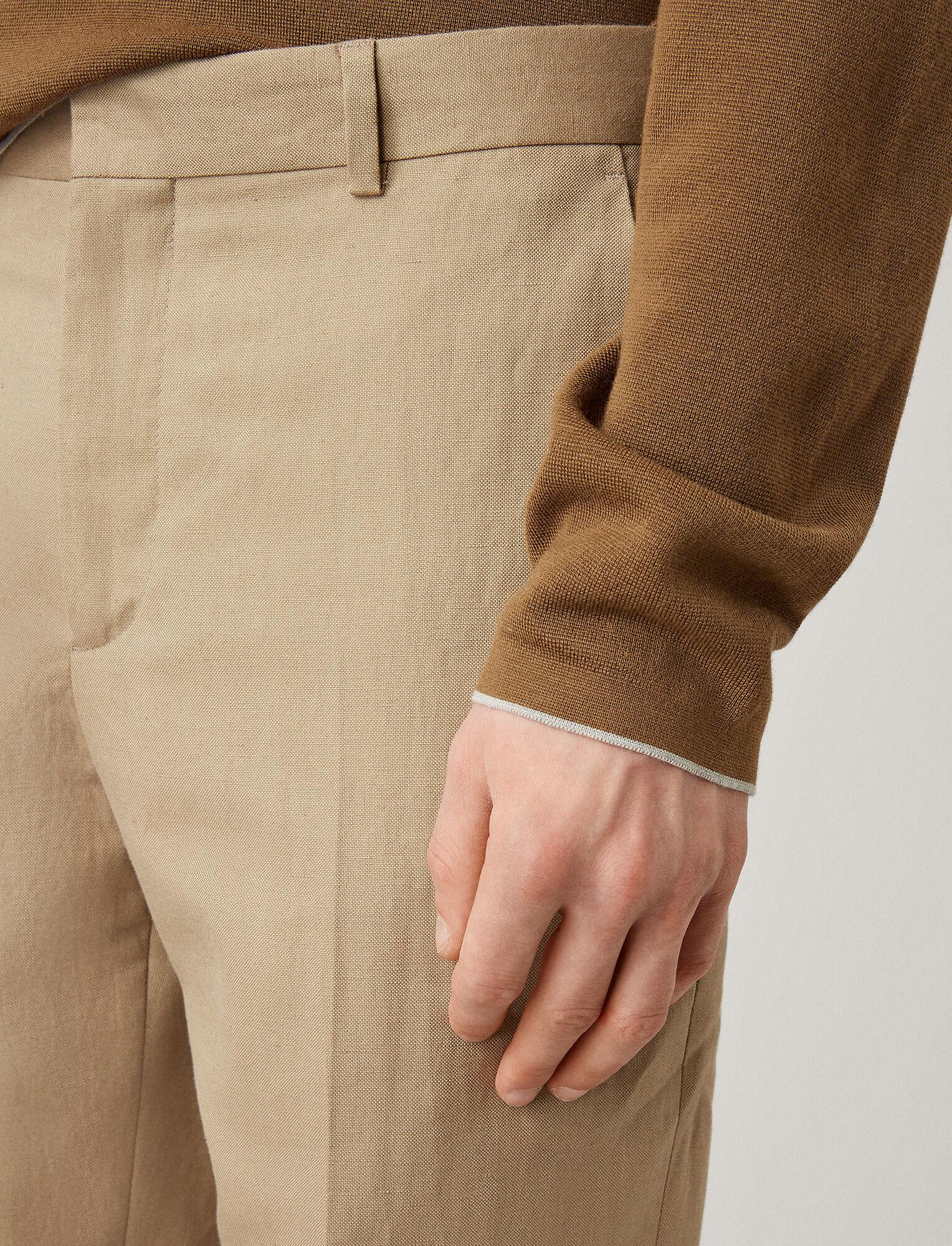 Joseph, Jack Linen Cotton Blend Trousers, in SAND