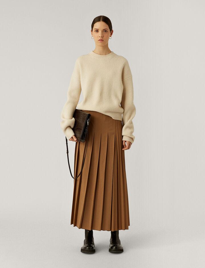 Joseph, Rd Nk Ls Cardigan Stitch Knitwear, in Ivory