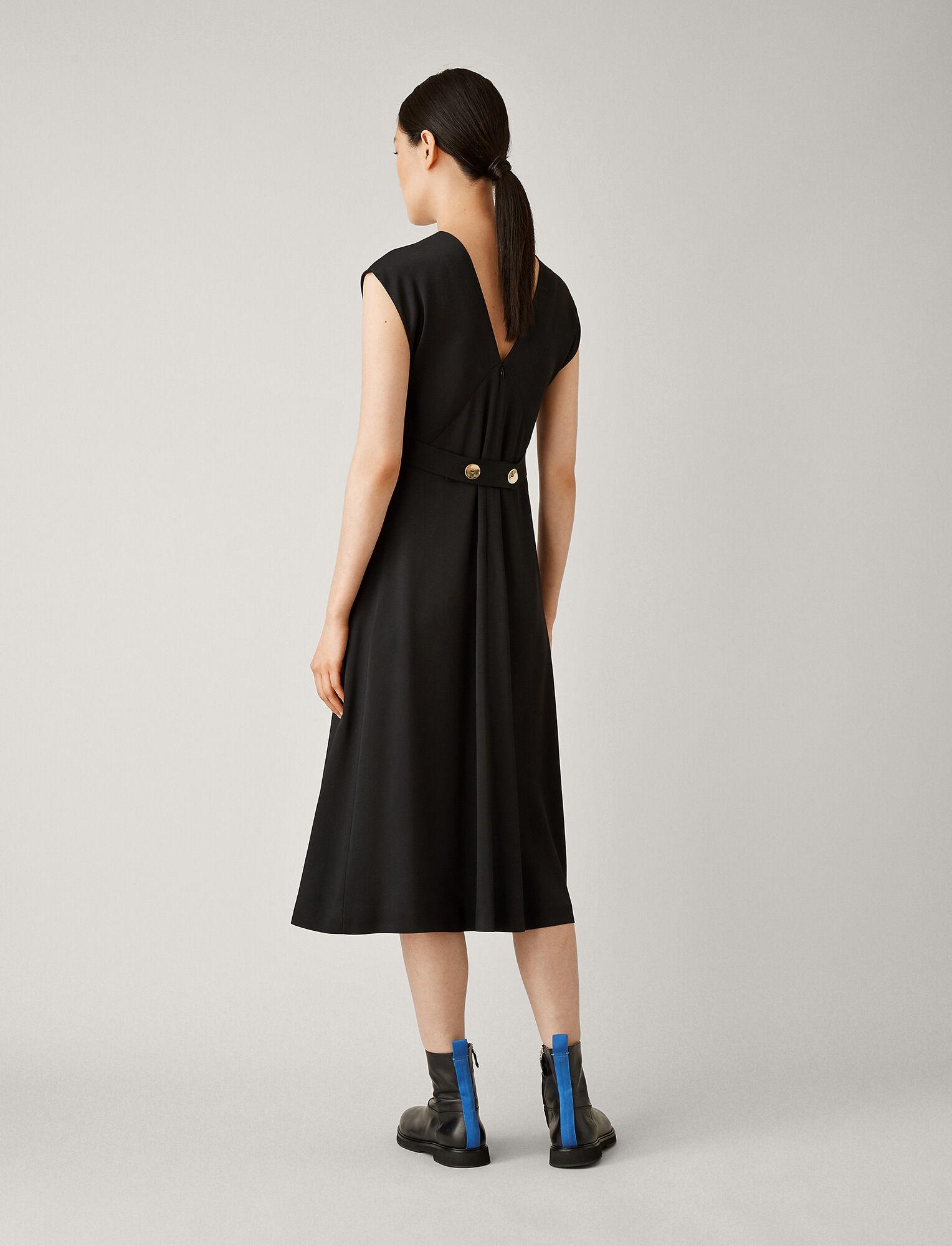 Joseph, Sienna Light Cady Dress, in BLACK