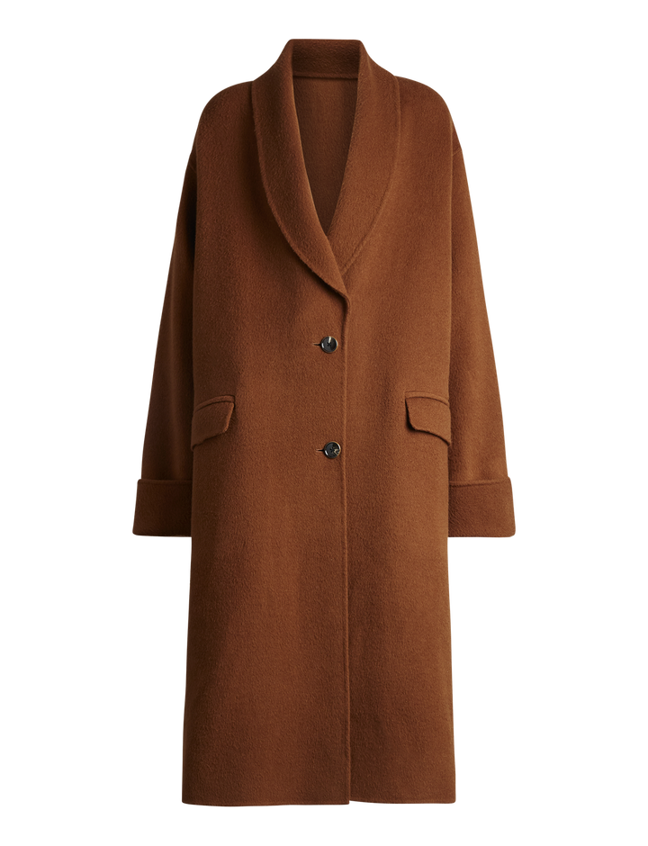 Joseph, Kara Wool Camel Double Face Coat, in CAMEL