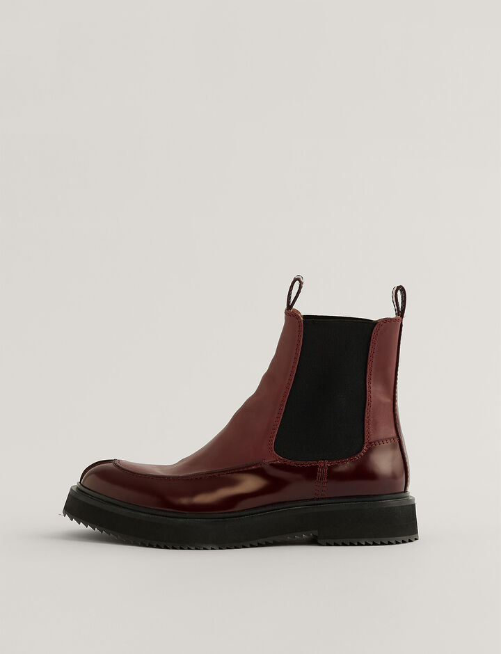 Joseph, Brisith Ankle Boots, in Bordeaux