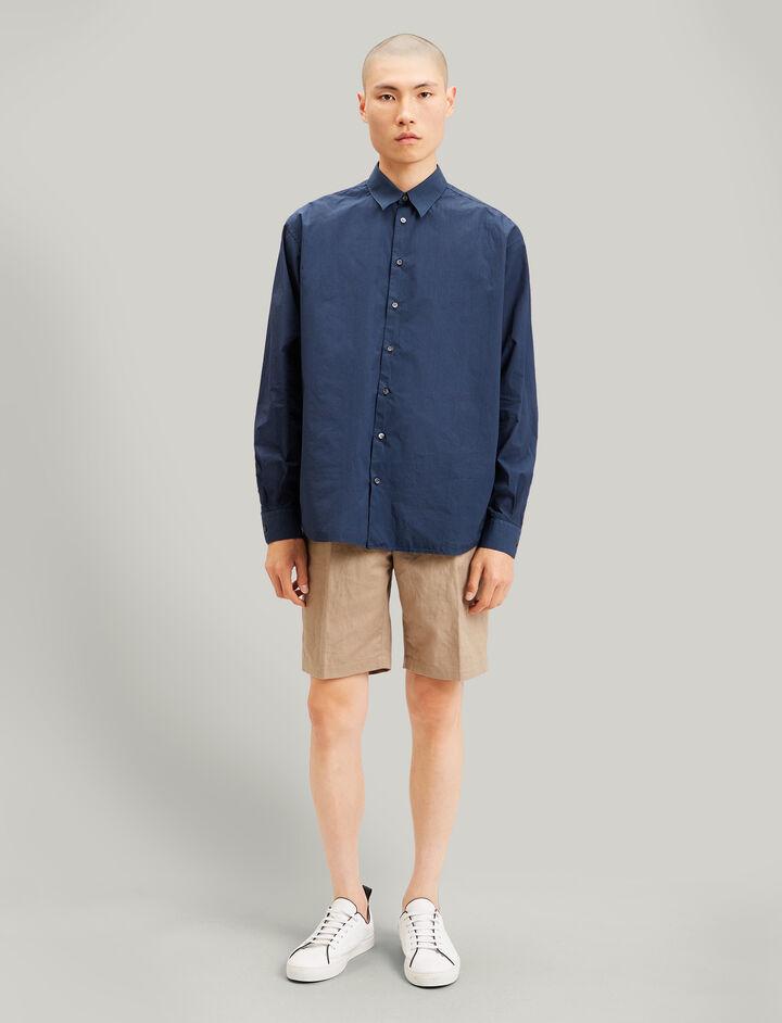 Joseph, Mer Parachute Poplin Shirt, in NAVY