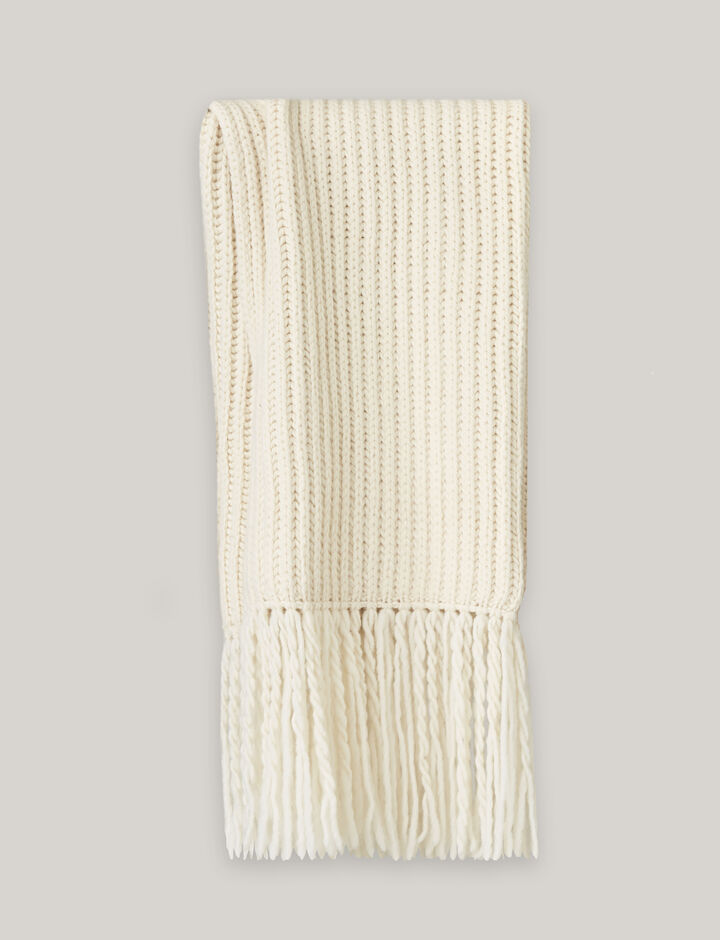 Joseph, Half Cardigan Scarf, in CREAM