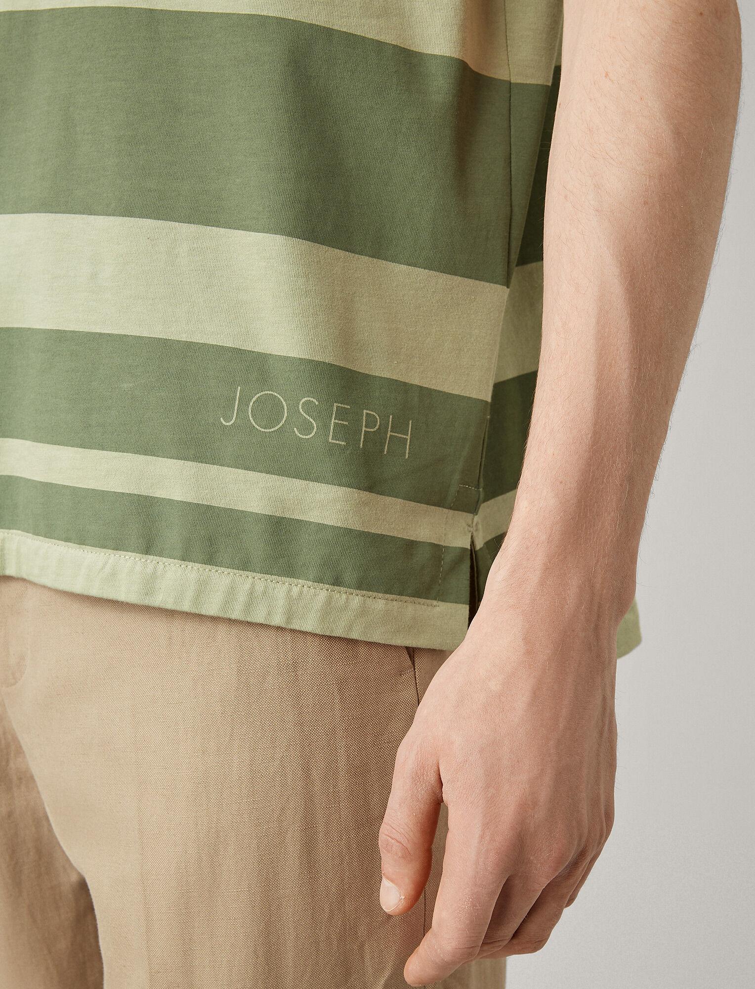 Joseph, Joseph Stripe Tee, in KHAKI
