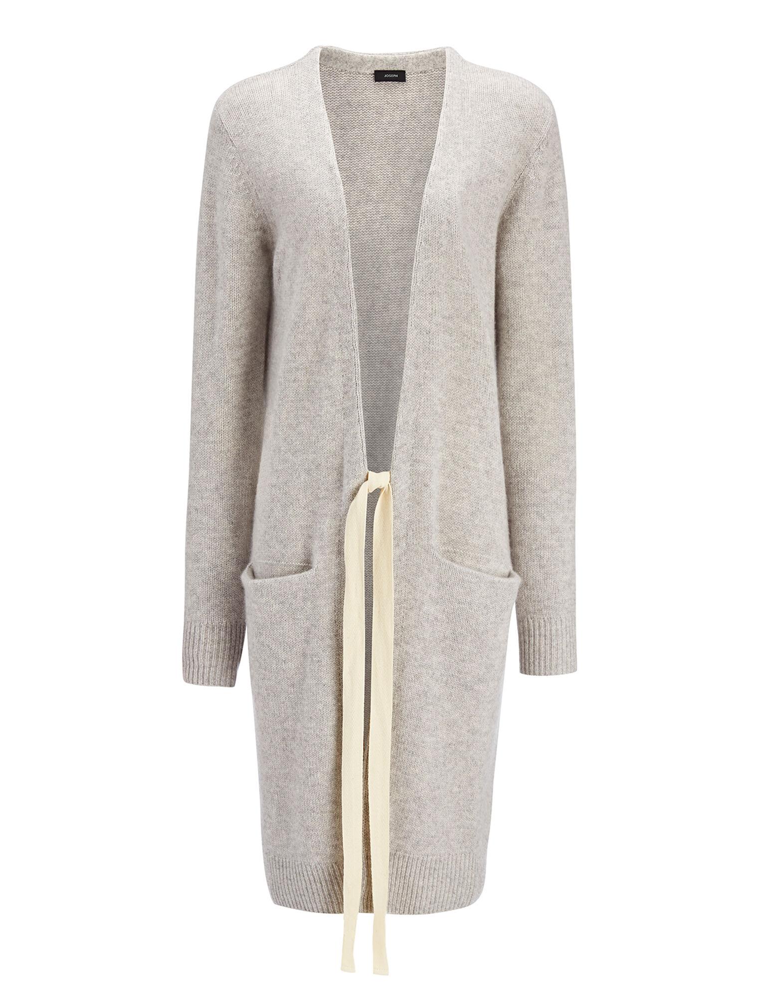 e9da594a49 Open Cashmere Long Cardigan in Grey