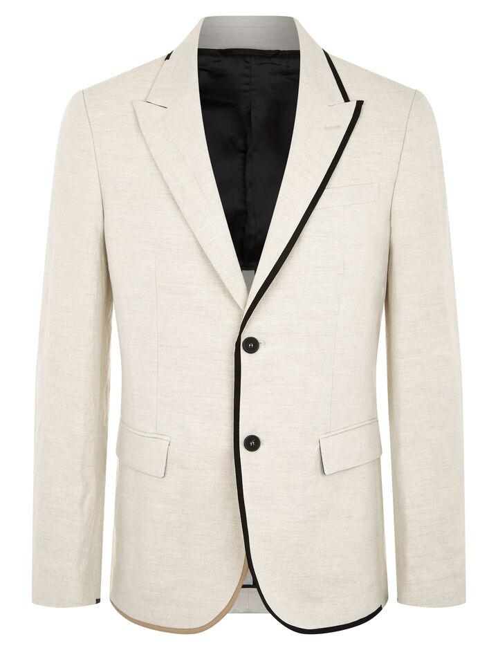 Joseph, Cote Azur Cotton Linen Slub Blazer, in STONE