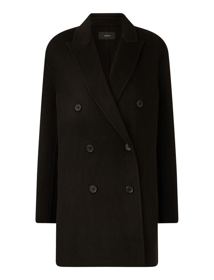 Joseph, Clavel Dbl Face Cashmere Coats, in Black