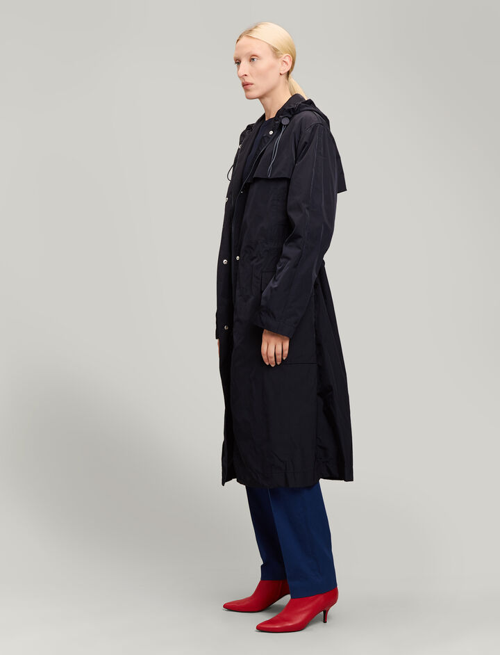 Joseph, Horton Taffeta Nylon Coat, in NAVY