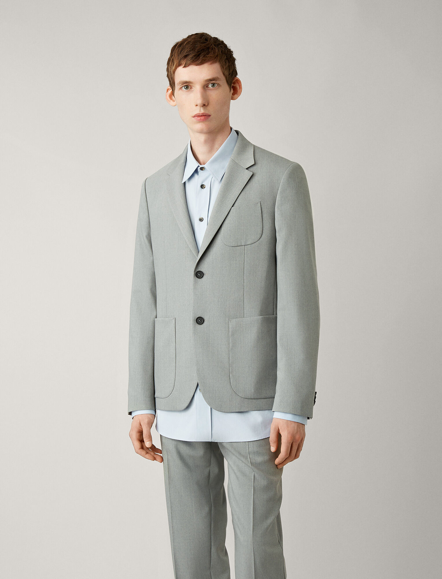 Joseph, Cassels Fine Comfort Wool Jacket, in GREY CHINE