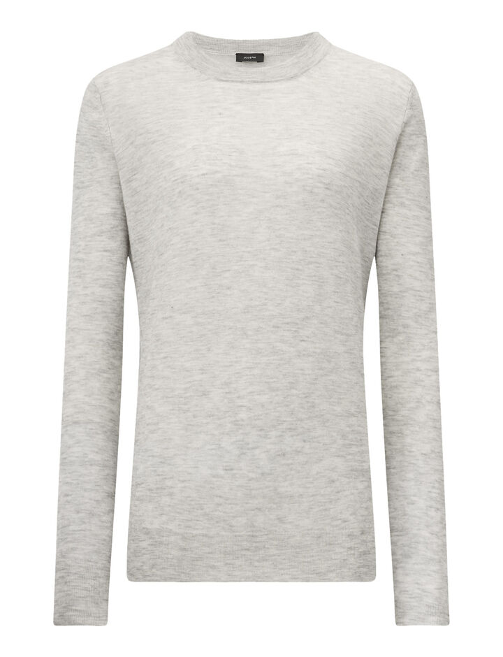 Joseph, Rd Nk Ls-Cashair, in GREY CHINE