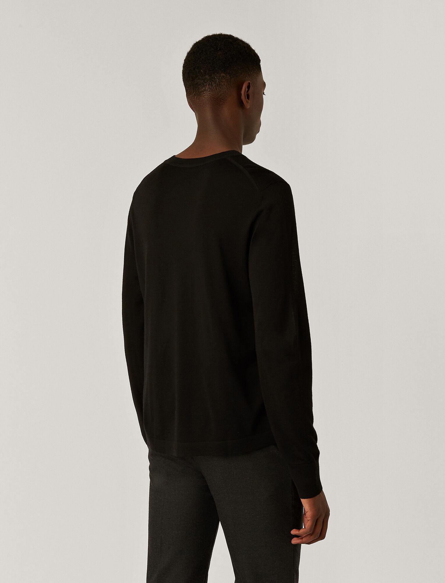 Joseph, Tricot en laine mérinos légère, in BLACK