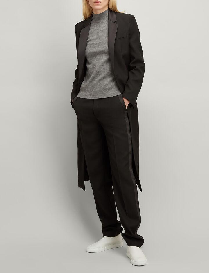 Joseph, Superfine Merinos High Neck Sweater, in GREY CHINE